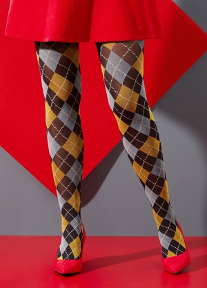 Fine Argyle Tights