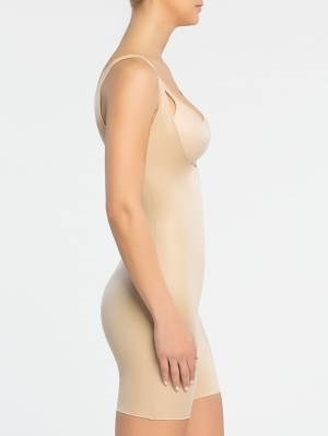 Power Conceal-Her Open-Bust Mid-Thigh Bodysuit