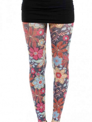 Zesty Printed Footless Tights
