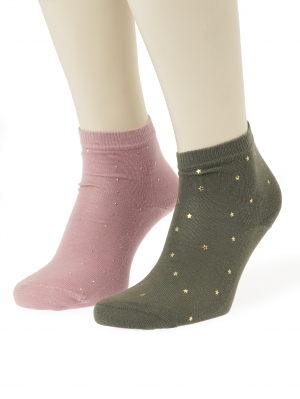 Abstract Studs Socks 2-pack